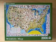 Wildlife Map Us New York Puzzle Co 2000 Piece Jigsaw Puzzle
