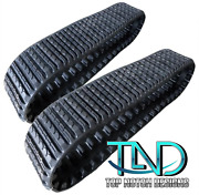 Two Rubber Tracks Fits Terex Pt50 Pt60 St50 Scout 15x4x42 Straight Bar Tread