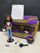 Monster High Dead Tired Clawdeen Wolf Bunk Bed Set With Box.
