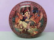 Disney Snow White Seven Little People Vintage Tin Cans Empty Can Accessory Case