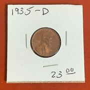 1935-d Lincoln Wheat Penny Nice Original Better Date