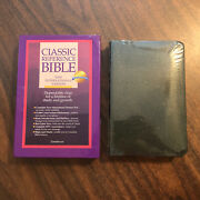 Sealed Niv 1984 Classic Reference Bible - Forest Green Bonded Leather - Oop 84
