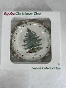 1999 Spode England Annual Collector Plate Christmas Tree In Original Box New