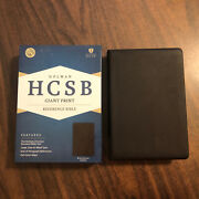 Hcsb Giant Print Reference Bible - 69.99 Retail - Brown Genuine Cowhide Leather