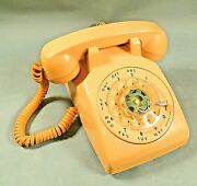Vintage Itt Rotary Dial Desk Phone Beige Untested 1987 Handset And Line Hard Wired