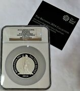 2014 Silver Great Britain 10 Pounds Britannia 5 Oz High Relief Ngc Pf 70 Uc