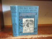 Old Boy With The U.s. Life-savers Book Lighthouse Rescue Ship Navy Buoy Safety +