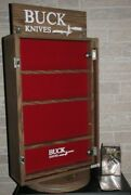 Vintage 1980and039s Buck Knives Store Display Cabinet Showcase W/ Keys And Brochures