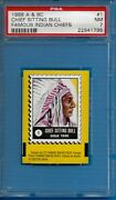 1968 A And Bc Famous Indian Chief 1 Chief Sitting Bull Psa 7 Pop 1 - 0 Higher