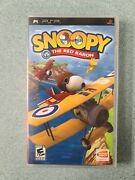 Psp Snoopy Vs The Red Baron Game Umd Peanuts Playstation Portable Sony Used