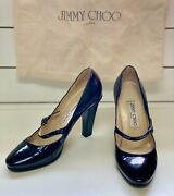 Jimmy Choo Kindle Black Patent Leather Shoes 36.5