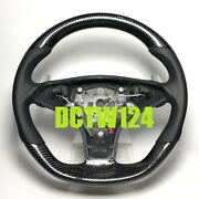 Real Carbon Steering Wheel Mercedes R230 Sl63 Sl550 Cls63 Cls550 Leather Amg Exc