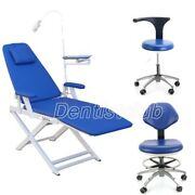 Dental Foldable Examination Chair Led Light Recharge/ Dentist Mobile Chair Stool