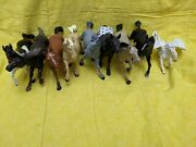 Toy Horses, Mixed Lot Of Eight, 8 Plastic Horses And One Pegasus