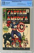 Captain America 100 Cbcs  7.5 Vf-  Off Wht/wht Pgs 4/68. 1st Issue, Forme