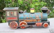 Vintage Battery Operated Old Western Engine Train Modern Toy Litho Tin Toy Japan
