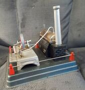 Vtg. Linemar Toys Steam Engine J-2734r Box And Accessories Vg+ Shape 1950s Tin