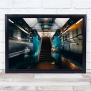 Out Chicago Metro Stress Creative Edit Double Exposure Wall Art Print
