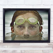 When Iand039m Older Portrait Girl Swimmer Goggles Eyes Freckles Hair Wall Art Print