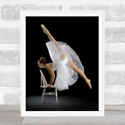 Touch Of Class Portrait Skirt Pose Stretch Flexible Stretching Wall Art Print
