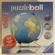 Ravensburger Puzzleball 3d Globe With Display Stand 960 Pcs. - Factory Sealed