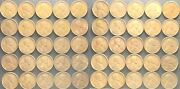 50 1920-s Lincoln Cents 1 Roll. Good - Vf Nice Coins