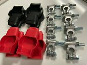 4 Sets Military Battery Terminals And Boots For Heavy Duty Off Road Battery Setup