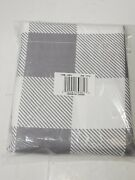 Farmhouse Gray Check Pattern Shower Curtain For The Bathroom - New