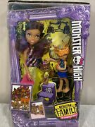 Monster High Monster Family - Clawdeen Wolf Barker And Weredith - New In Box