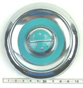 Vintage Oldsmobile Hubcaps 1950and039s Classic Dog Dish Baby Moon 10 Turquoise