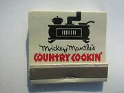 Mickey Mantleand039s Home Cooking Matchbook--very Rare