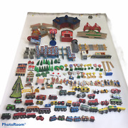 Huge 335 Piece Thomas The Tank Engine Wooden Trains, Tracks And Buildings 35lb Lot