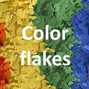 Chips/flakes For Epoxy Polyaspartic Urethane Floor Coating   54 Blends   10lbs