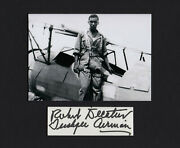 Tuskegee Airman Judge Robert Decatur Wwii Rare Signed Cut Mated With 5x7 Photo