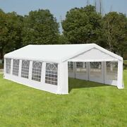 Outsunny White Heavy Duty Party And Event Tent White