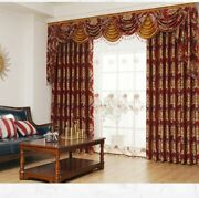 Chenille Printed Curtains Blackout Window Screening Blinds Luxury Tulle Valances