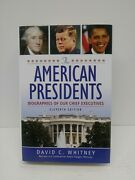 The American Presidents Biographies Eleventh Ed. David C Whitney Hardcover Book