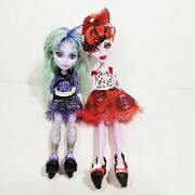 Monster High Dolls Twyla Operetta 13 Wishes For Dead Gorgeous Lot Of 2 Stand
