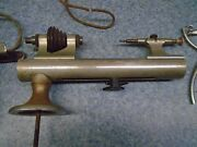 Vintage Levin Watchmakers Lathe With Kendrick And Davis Motor And Foot Pedal