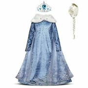 Kids Elsa Dress For Girls Carnival Party Clothes Birthday Costume Accessories