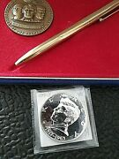 John F. Kennedy Lincoln And Washington Medal 44 Mm Medal And Silver Jfk Medal