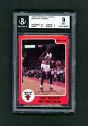 Michael Jordan Rookie Card 1986 Star Rookie Of The Year Bgs 9 Chicago Superstar.