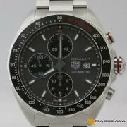 Tag Heuer Formula1 Quartz Wrist Watch Chronograph Silver Used From Japan F/s