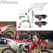 Complete Dual Exhaust Muffler System 2-5 Hp For Honda Crf230f Crf150f 2003-2016