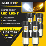 Auxito 4x 1157 2357 Led Front Turn Signal Lights Bulb Switchback Canbus Bright A