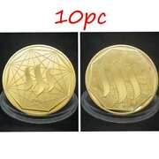 10pc Steem Crypto Physical Coins Commemorative Collectors Gold Plated With Case