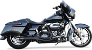 Bassani Road Rage 2 Into 1 Black Motorcycle Exhaust 07-16 Harley Touring Flhx
