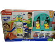 Little People Launch And Loop Raceway Light-up Vehicle Playset