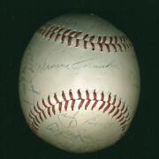 Gil Hodges - Autographed Signed Baseball With Co-signers