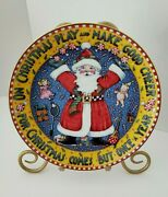 Mary Engelbreit Plate Christmas Comes But Once A Year Coa Danbury Mint Vtg